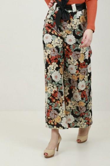 Pantalon ruit+stip bengaline hoge t