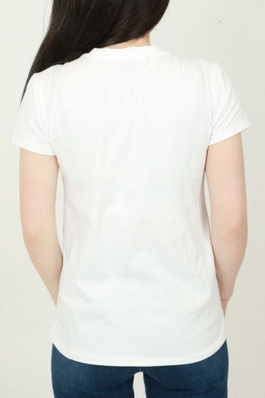 T-shirt 3oplegparels open hals sjaa