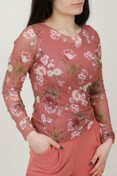 T'shirt getekende anemonen bladeren