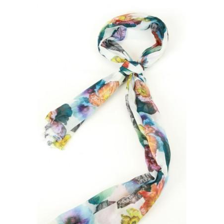 Sjaal met anemonenboeketjes