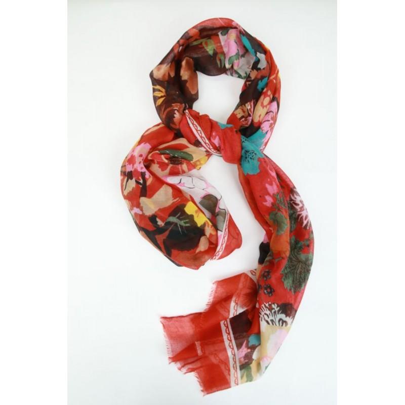 Sjaal met klokjesbloemen