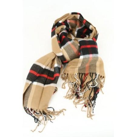 Sjaal met geruite jacquard