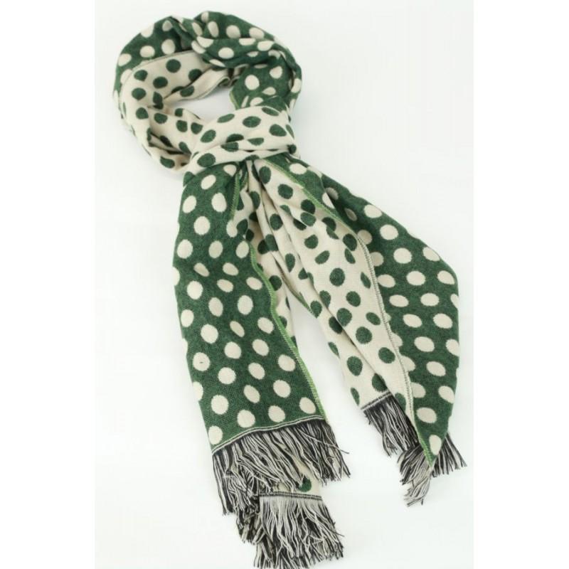 Brede flanel sjaal met stoppen