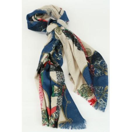 Sjaal met koetsen en chabloon