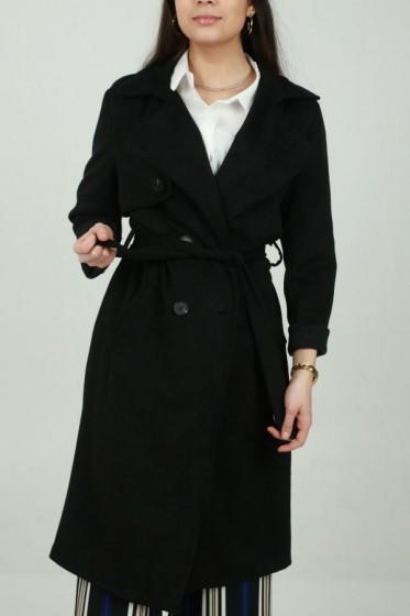Crepe jurk V-hals met overslag
