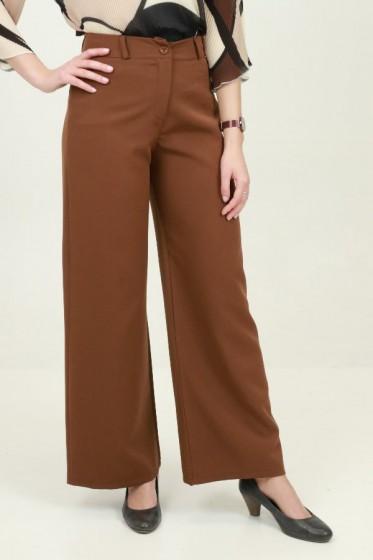 Pantalon breed gelijnd 3color crepe