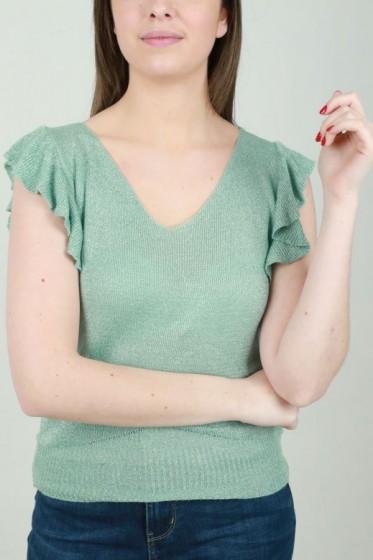 T'shirt drapagekraag viscose