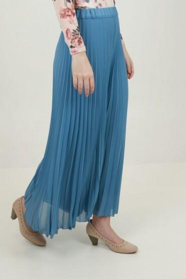 Lange jurk V-hals met plumetiprint