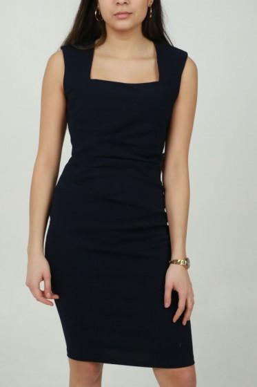 Lange gebloemde jurk met V-hals