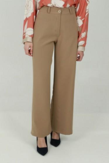 Pantalon met ingeweven houndstooth