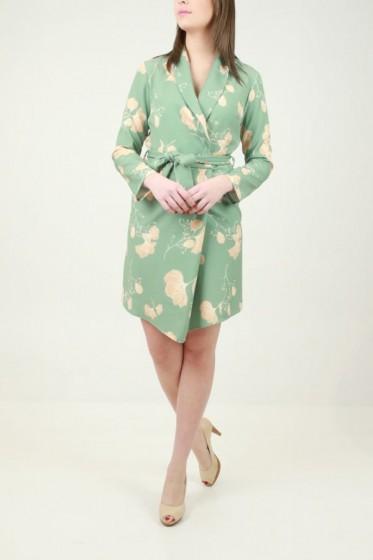 jurk met prince-de-galles print