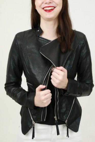 Mouwloze jas in eco-omgekeerd scaap