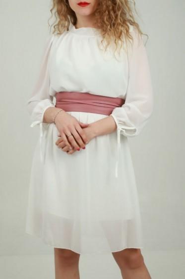 Lange plissé rok met karroprint