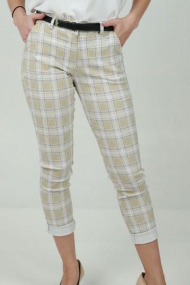 Lange plissé rok met lurex bladjes