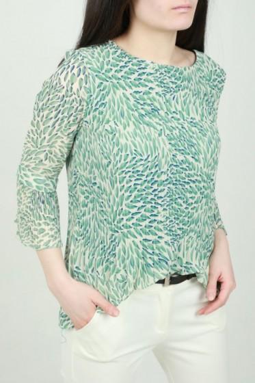 Lange plissé rok met zebraprint