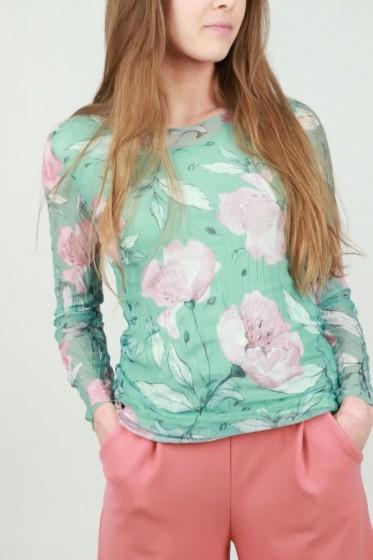 Tshirt patch stippen luipaard bloem