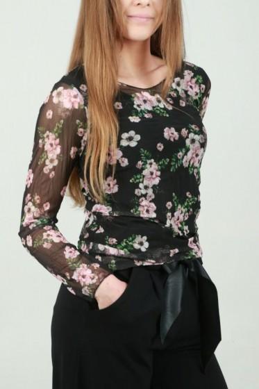 jurk gelijnd bloemenzoom Vhalterhal
