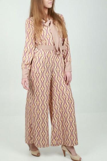 Pantalon plissé medium tailleband s